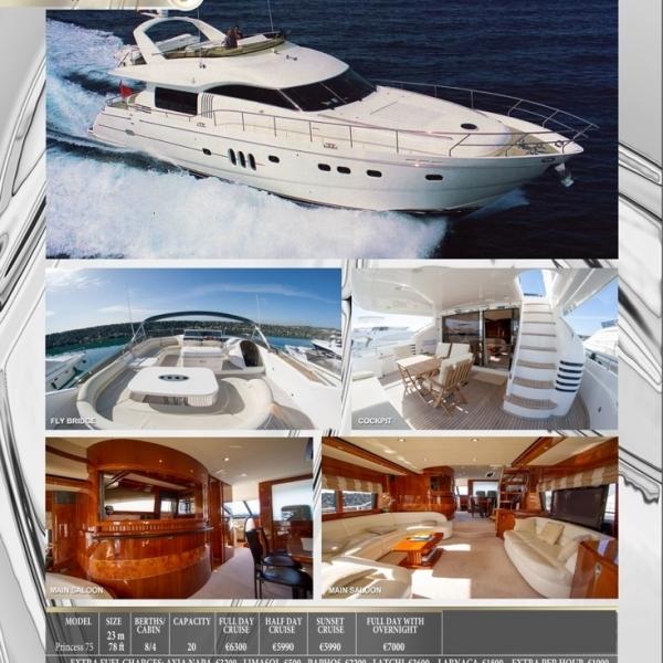 Яхта PRINCESS 75